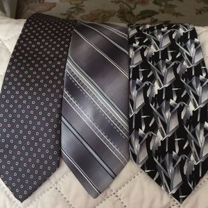 Tie lot of gray and black ties
